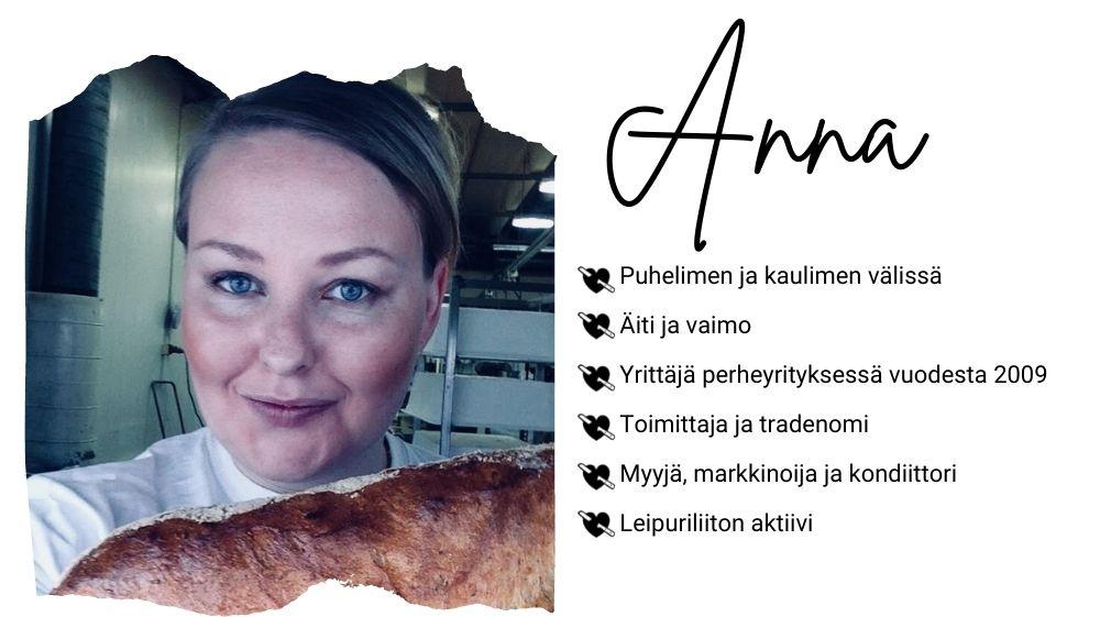 Nurmileivän Anna esittäytyy